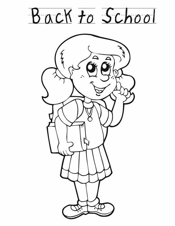 school girls colouring pages
