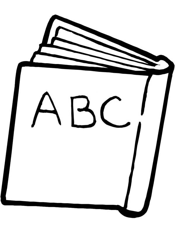 an abc book for first day of school coloring page - Book Pictures To Color