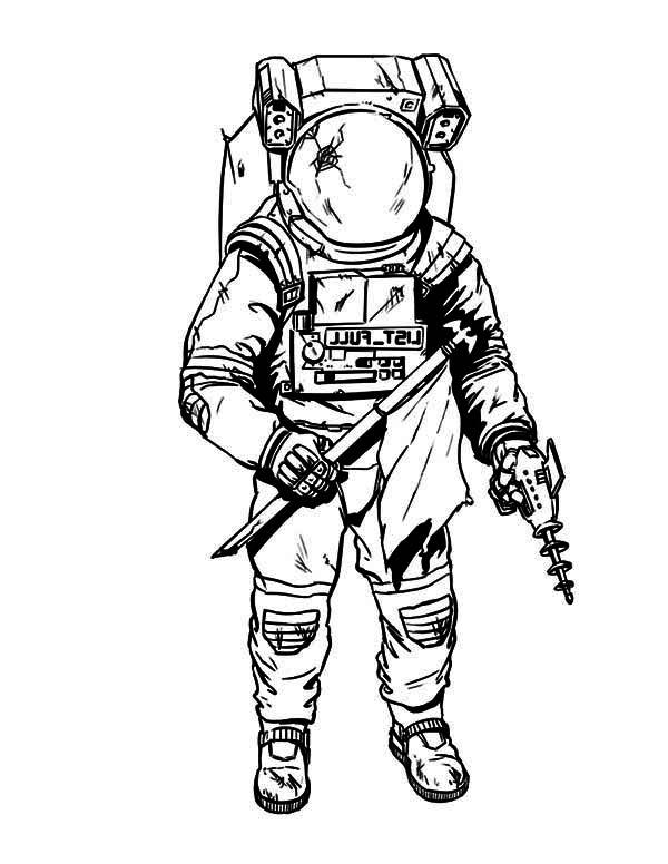 astronaut suit coloring page