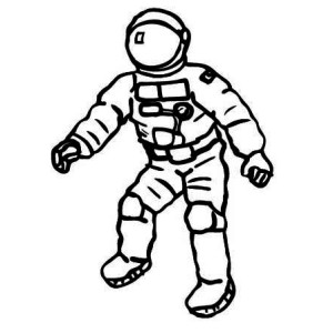 a space suit colouring pag