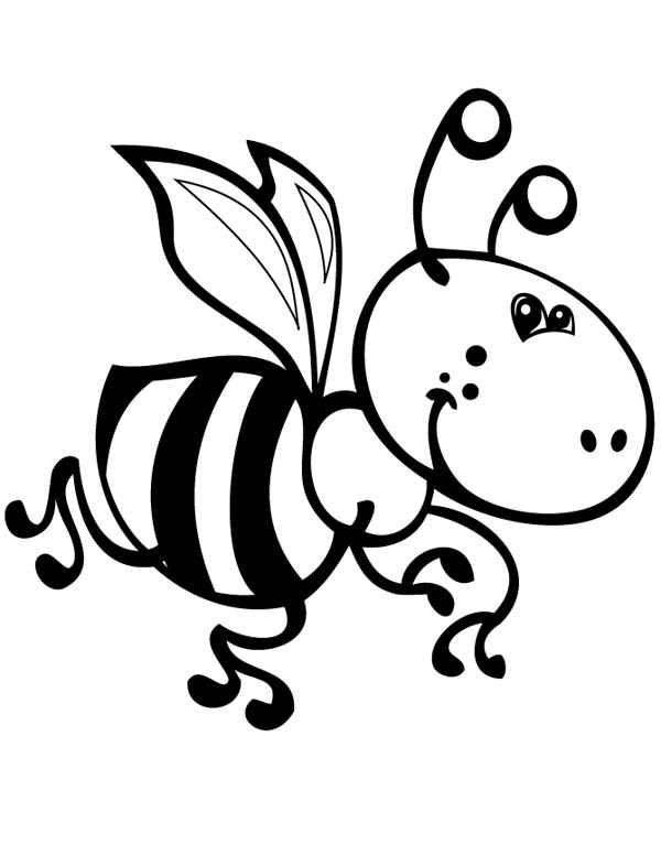 artistic bumblebee coloring page