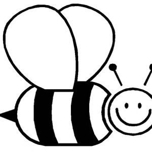 Big Fat Bumblebee Flying Around Coloring Page