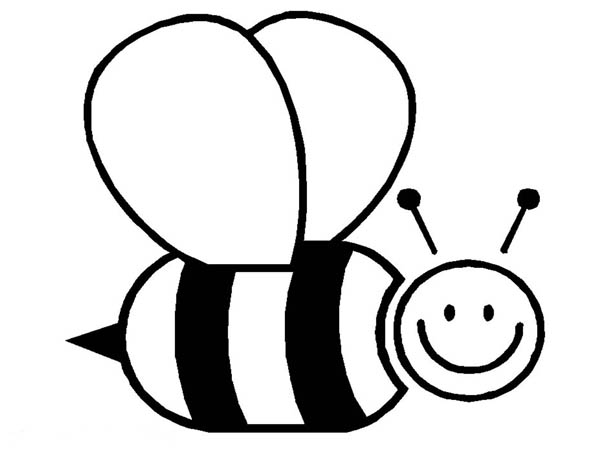 Big Fat Bumblebee Flying Around Coloring Page Download Print