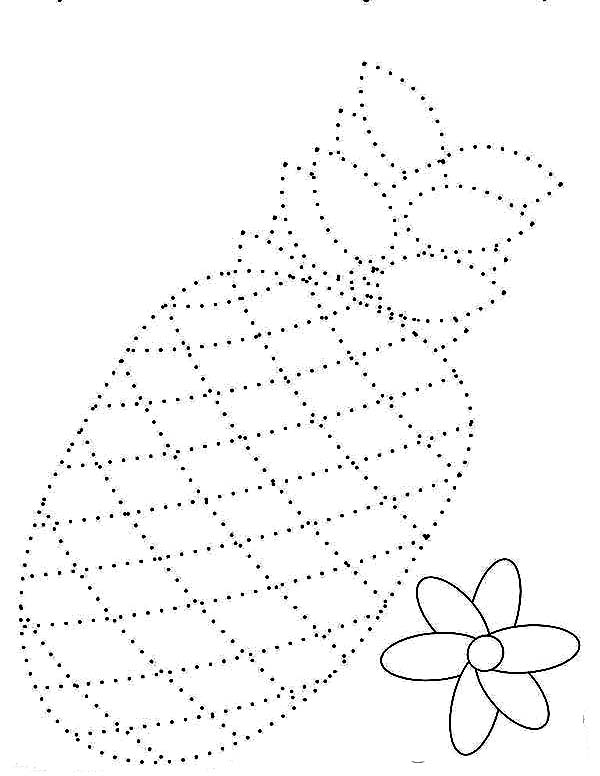 Draw the Pineapple Dotted Sheet Coloring Page - Download & Print ...