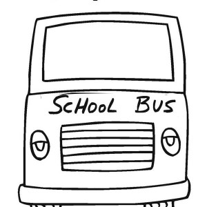First Day of School on School Bus Coloring Page