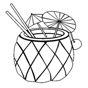Fresh Fruit Punch Pineapple Coloring Page