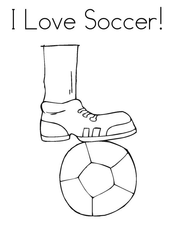 I Love to Play Soccer Pamphlet Coloring Page - Download & Print ...