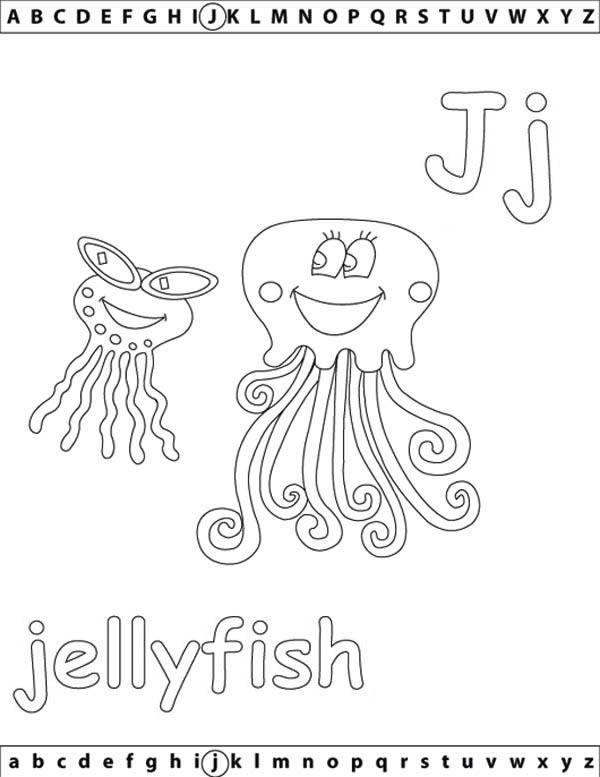91 J Is For Jellyfish Coloring Page