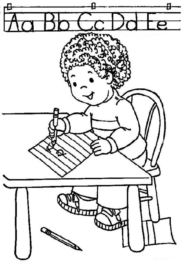 first day of school learn abc on first day of school coloring page