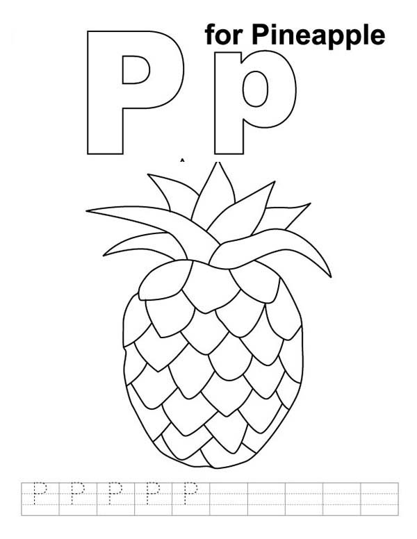 97 P Is For Pineapple Coloring Pages Pineapple Coloring Pages