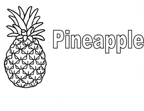 Learn to Read Pineapple Coloring Page Download Print Online