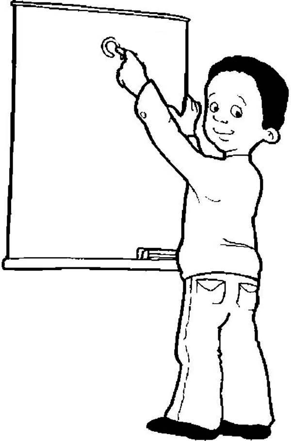 Meet the Teacher on First Day of School Coloring Page - Download ...