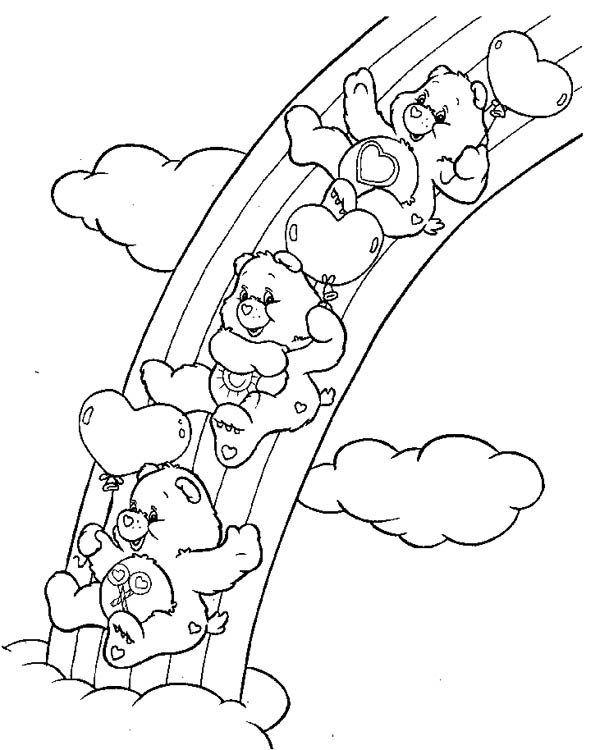 Related Keywords & Suggestions for Rainbow Care Bear Coloring Pages