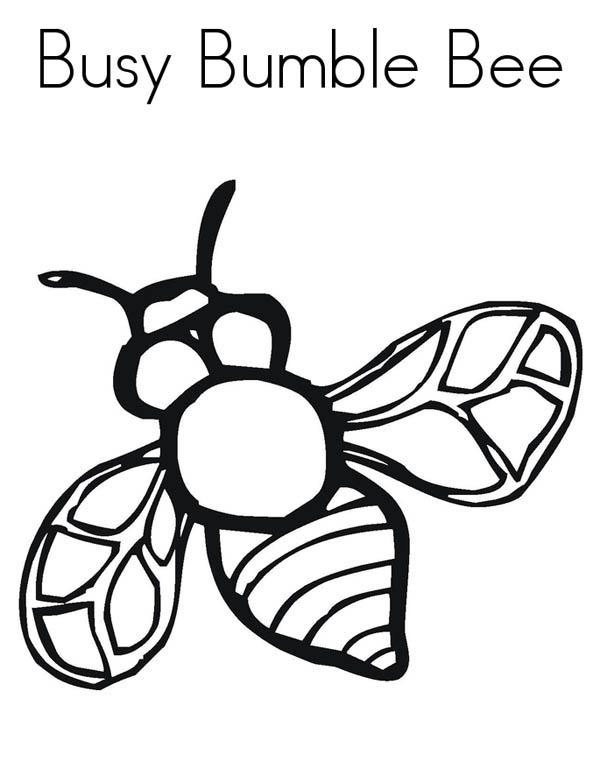 Realistic Image of Busy Bumblebee Coloring Page - Download & Print ...