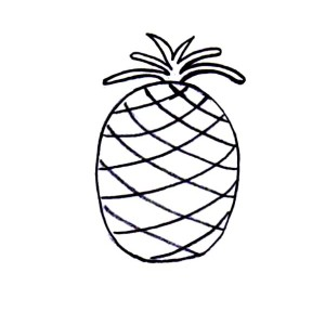 Simple Drawing of Pineapple Coloring Page