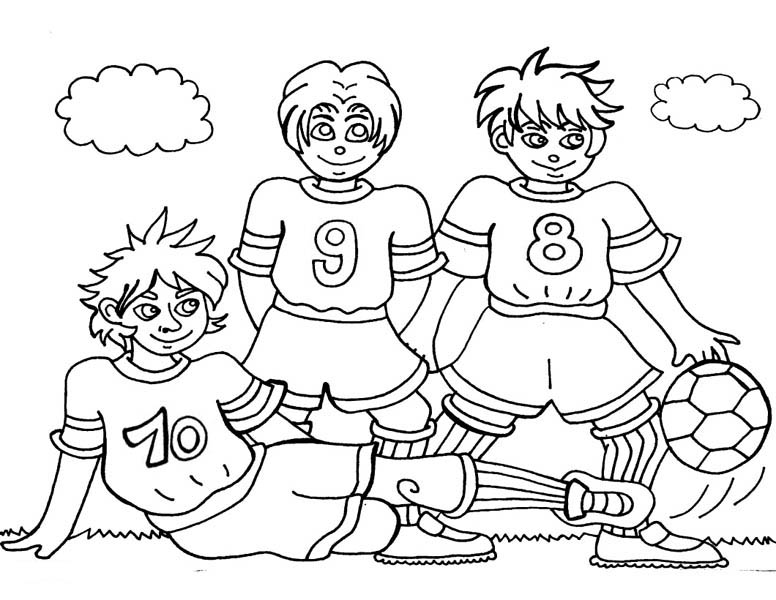 Soccer Players Coloring Pages Yjj29bt Vector Of A Frozen Cartoon