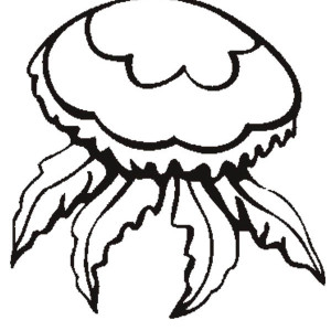 flower jellyfish coloring page