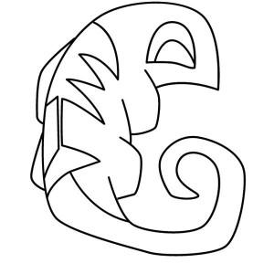 iguana symbol coloring page
