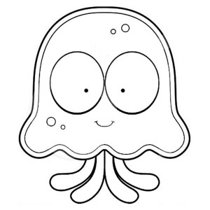 jellyfish jellyfish cartoon coloring page jellyfish cartoon coloring page jpg