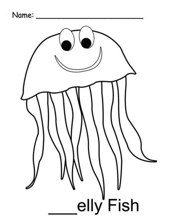 jellyfish mr jellyfish coloring pagejpg - Jellyfish Coloring Page