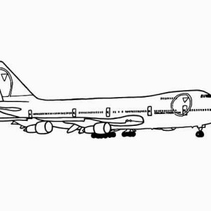 747 jumbo jet coloring page