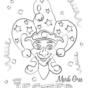 A Colorful Mardi Gras Fest Pamphlet Coloring Page