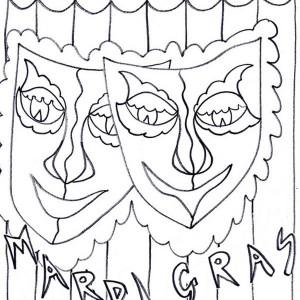 A Common Symbol of Mardi Gras Fest Coloring Page