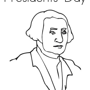 Presidents Day A Drawing Of George Washington For Coloring Page