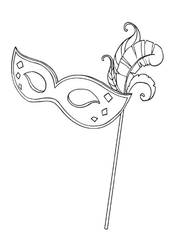 A Typical Mardi Gras Mask for Lady Coloring Page - Download & Print ...