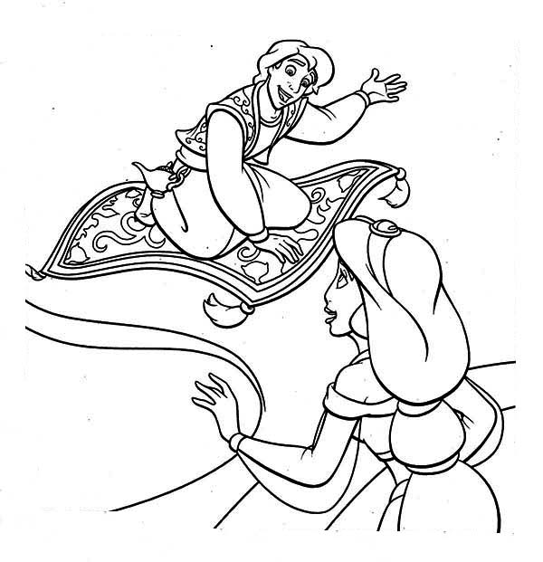 aladdins carpet coloring pages - photo#10
