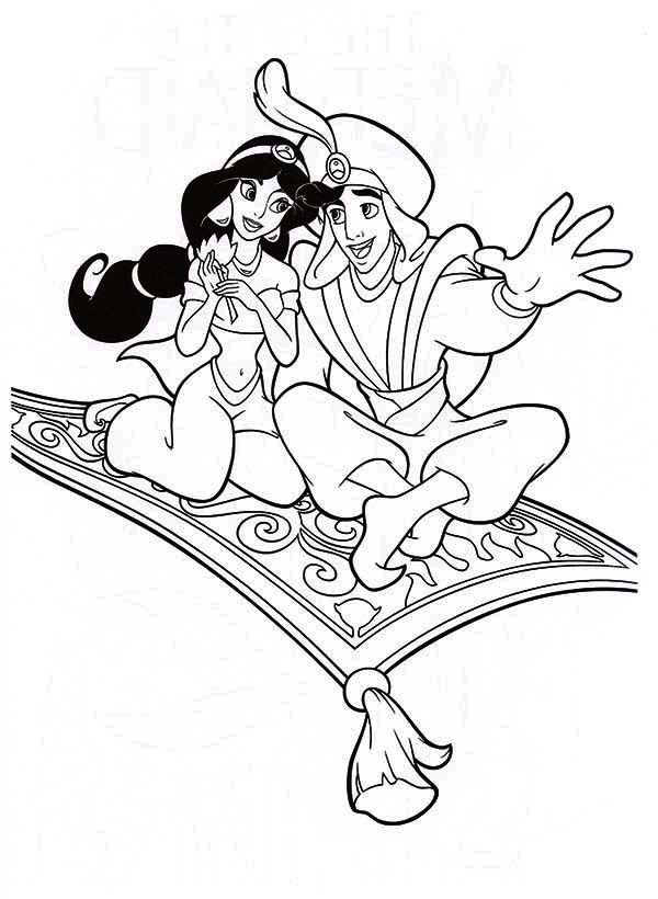 aladdins carpet coloring pages - photo#7