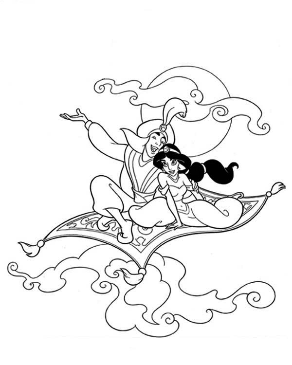 aladdin magic carpet coloring pages - photo#7