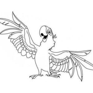 aladeen parrot coloring page - Parrot Pictures To Color