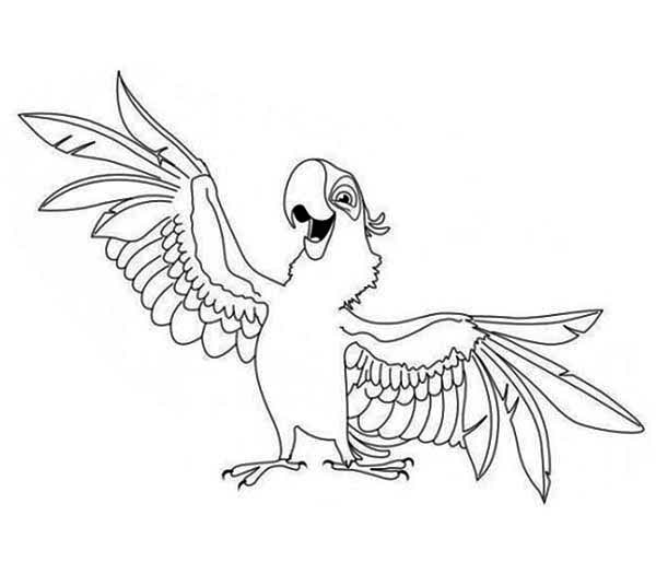 aladeen parrot coloring page