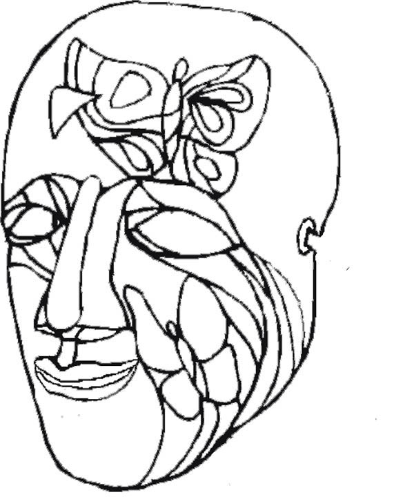 Mardi Gras Coloring Masks Printable