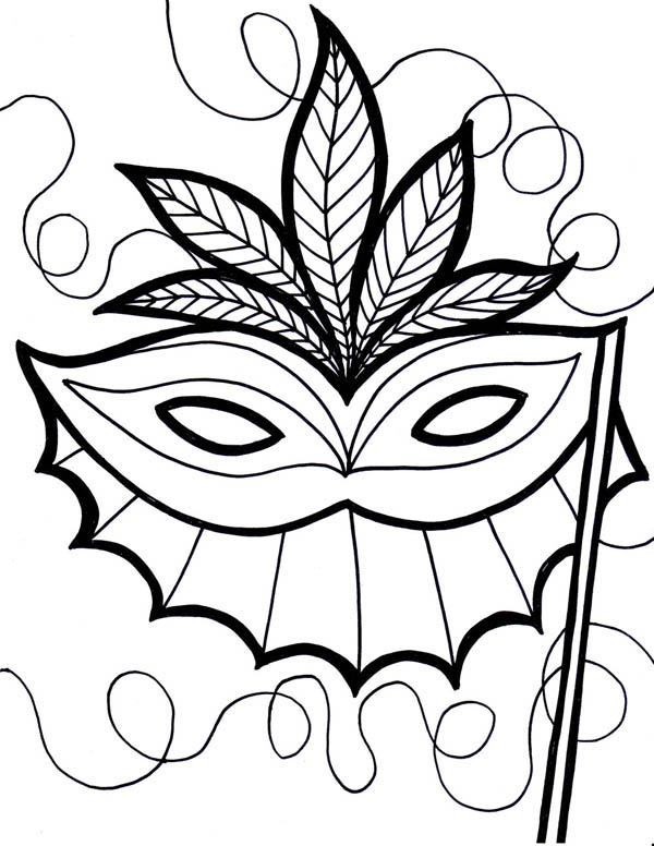 mardi gras an ethnic mardi gras mask coloring page an ethnic mardi gras mask - Mardi Gras Coloring Pages