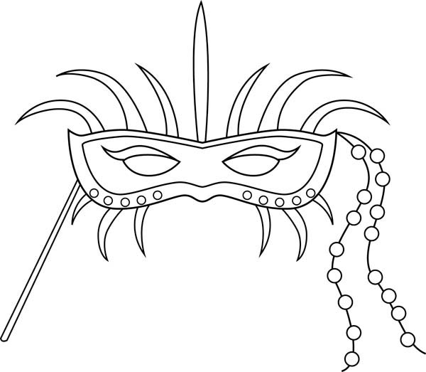 An Ornametic Mardi Gras Mask Coloring Page Download Print
