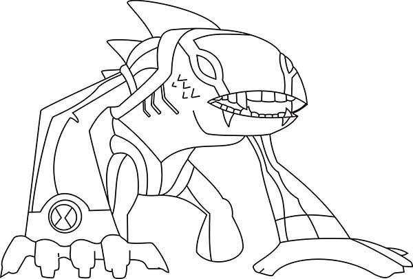Articguana from Ben 10 Omniverse Coloring Page Download Print