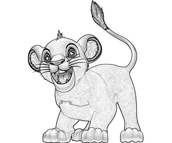 Awesome Baby Simba Coloring Page - Download & Print Online Coloring ...