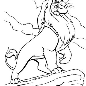 Awesome Mufasa Simba Father Coloring Page