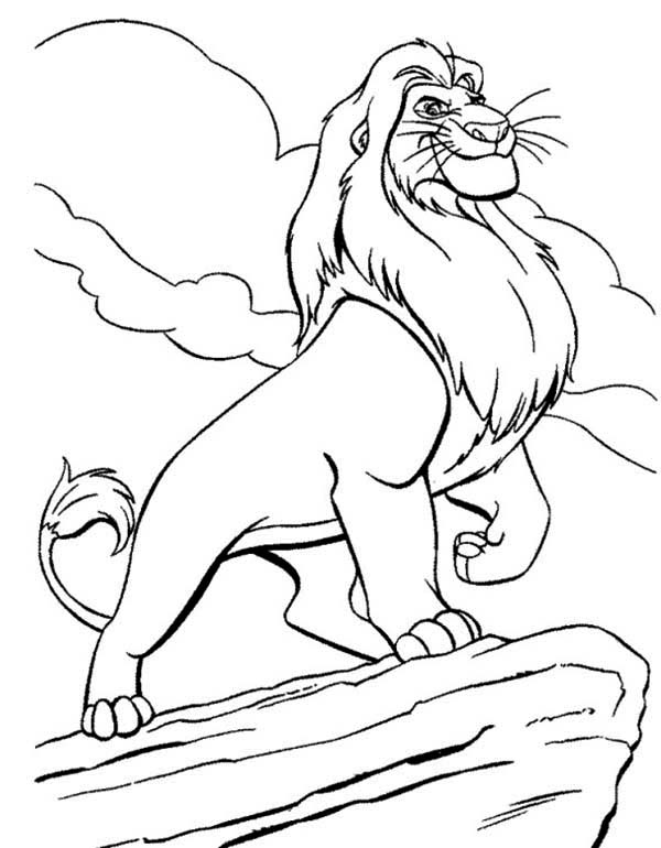 Awesome Mufasa Simba Father Coloring Page - Download & Print Online ...