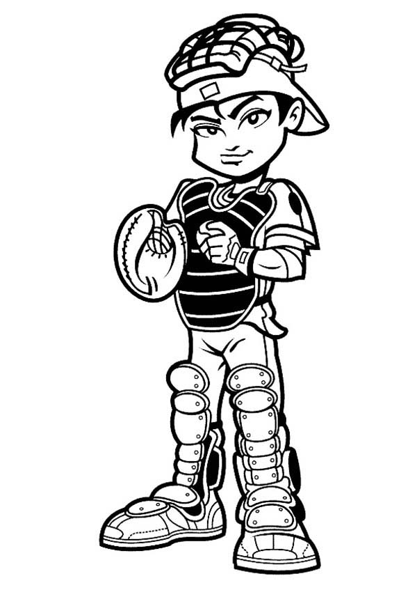 Baseball Player Catcher Coloring Page Download Amp Print