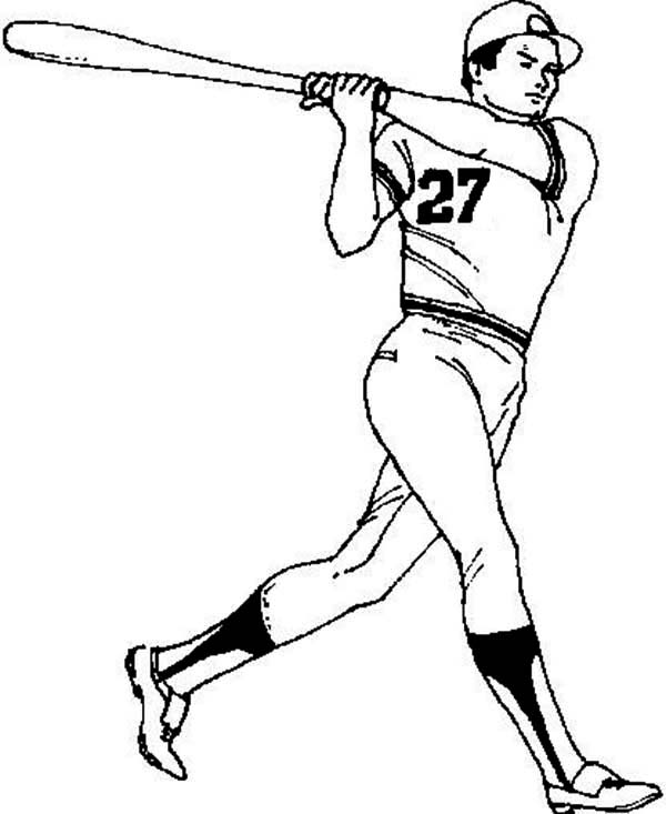 baseball player coloring pages - photo#17