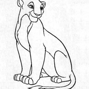 Beautiful Nala The Lion King Coloring Page