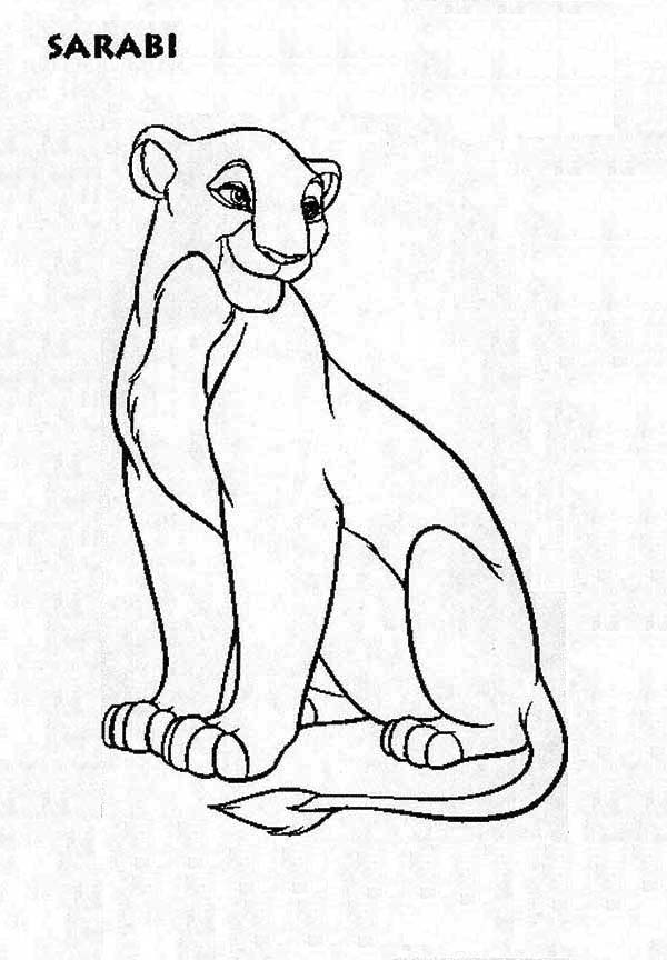 Beautiful Nala The Lion King Coloring Page Download Print