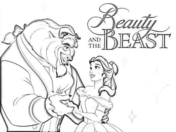 Beauty And The Beast Movie Poster Coloring Page