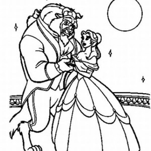 Belle and the Best Dancing in the Moonlight Coloring Page