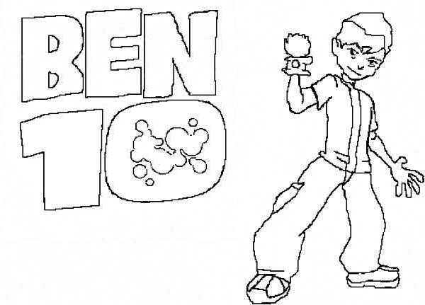Ben 10 TV Poster Coloring Page  Download  Print Online Coloring