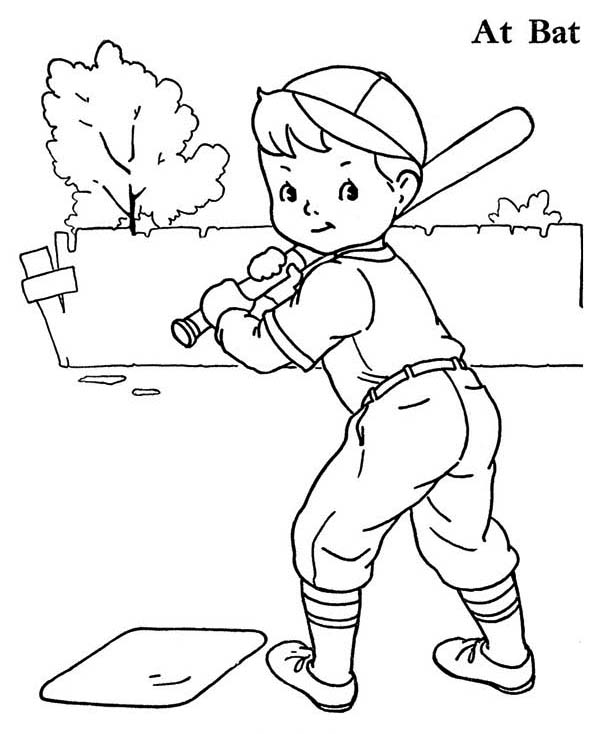 Boy Baseball Player Coloring Page Download Print Online Coloring