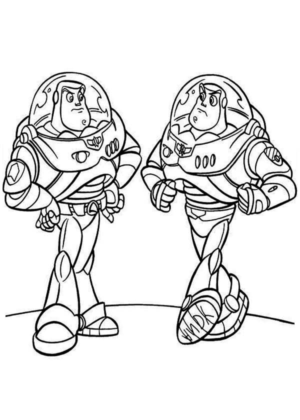 Buzz Meet His Twin in Toy Story Coloring Page - Download ...